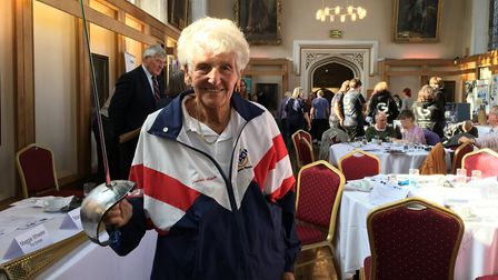 International fencing champion Connie Adam has just retired from the sport, aged 91. Pictured during