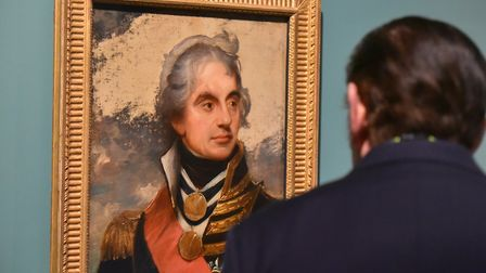 Horatio Nelson by Sir William Beechey on display at Norwich Castle. Picture: Jamie Honeywood