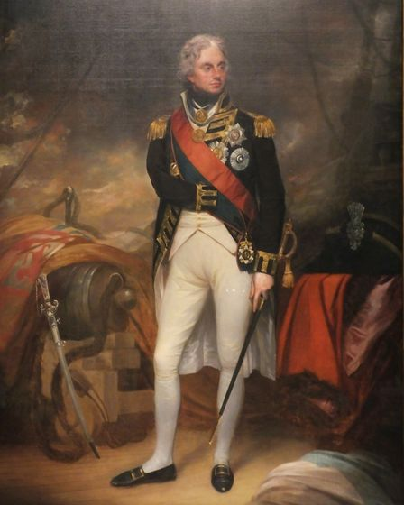 A portrait of Admiral Lord Nelson by William Beechey. Picture: Supplied by Dr Andrew Tullett