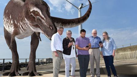 The launch of the new interactive game in Lowestoft, featuring fairies, dinosaurs and planets. Pictu