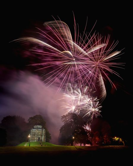 Fireworks light up the sky at King's Lynn's Fawkes in the Walks. Photo: West Norfolk Council