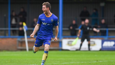 Adam Marriott scored King's Lynn's third, and his fifth goal in his last three league games Picture: