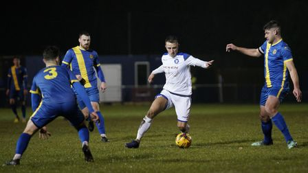 Jake Reed was on target at Peterborough Sports but couldn't stop the Blues slipping to defeat. Pictu
