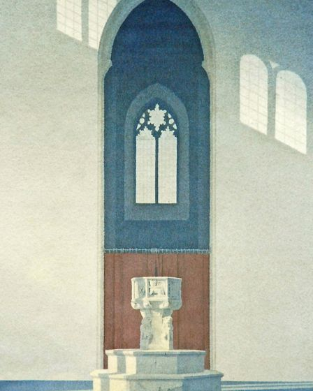 Salthouse Light II, watercolour, by Gerard Stamp, 2012, features in Peter Tolhurst's book Brilliant