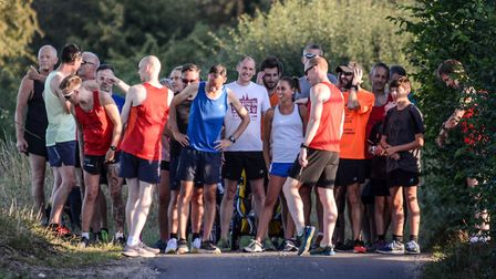On the start line for the Braydeston Mile. Picture: Baz Hipwell