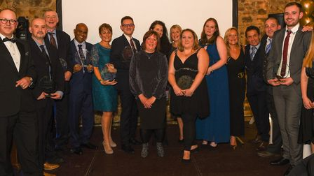 Winners at the Queen Elizabeth Hospital's annual awards night Picture: QEH