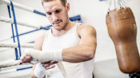Liam Walsh preparing for his fight against Maxi Hughes Picture: Mark Hewlett