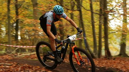 Watton rider Robert Smithers heads for a senior win in Thetford Forest. Picture: John Styles