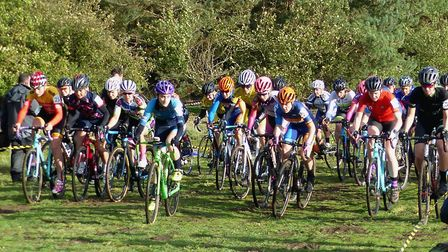 The start of the women's race at West Stow. Picture: Fergus Muir