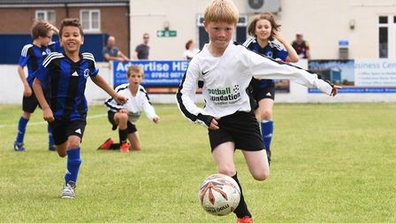 Players a the Lowestoft Town Football Club tournament. Picture: Nick Butcher.