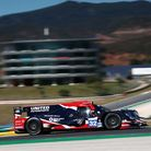 Alex Brundle heading for fourth place in the final round of the European Le Mans Series in the Unite
