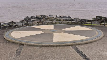 Britain's most easterly point 'Ness Point' in Lowestoft. PHOTO: Nick Butcher