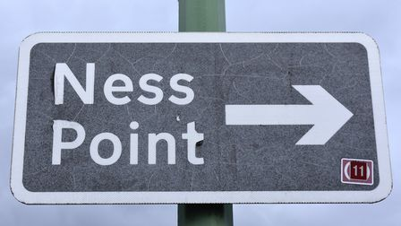 The Ness Point sign in Lowestoft, with improvements set to be made in the area. Picture: Mick Howes