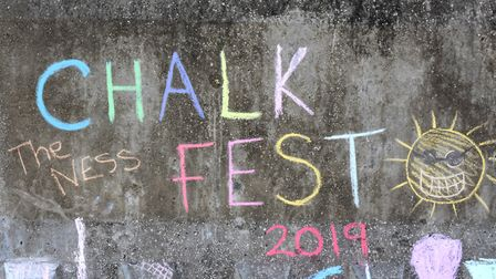 Chalk Fest creations. Picture: Mick Howes