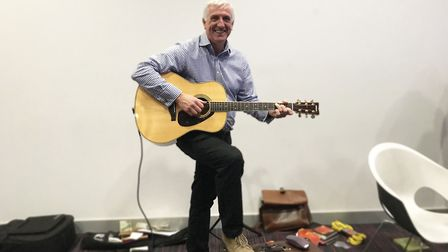 UEA lecturer Steve Smith writes songs about nursing for his lectures. Picture: Ella Wilkinson
