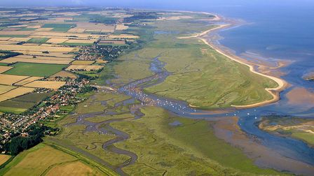 Brancaster where the remains of a Roman fort are under threat from rising sea levels. Photo: Mike Pa