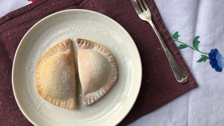 Kate Royall tackles the GBBO technical challenge: cassatelles (C) Kate Royall