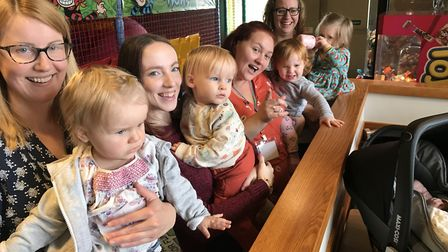 Mums and their babies at a Breastfeeding Mum Meets event at Brewers Fayre, Norwich. Picture: Lauren