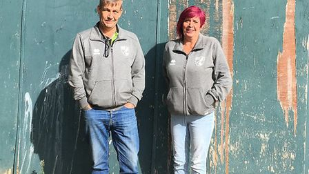 Jack and Sue Cassidy founded Dereham Saints two years ago with just 18 players. Picture: Dan Bennett