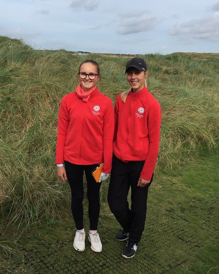 Norfolk youngsters Eve Neild (left) and Chloe Gibbs made their England Under-16 debuts at Hunstanton