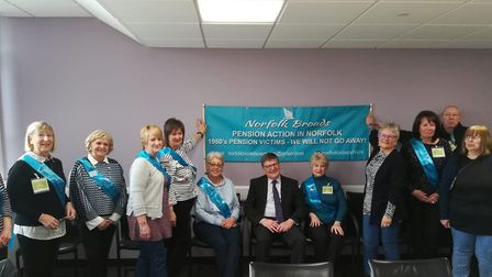 Members of the Norfolk Broads - PAIN group with Norfolk County Council leader Andrew Proctor (centre