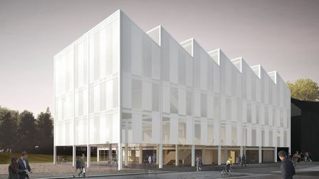 Artist's impression of the new Digi-Tech Factory at City College Norwich. The project has recieved a