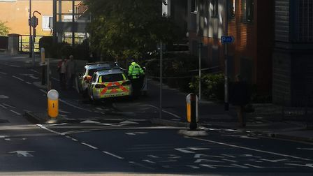 Police at Duke's Palace Wharf, Duke Street, Norwich. PIC: Submitted.