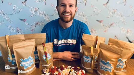 William Godfrey, who is running a new online pick 'n' mix business called Sweetzy. Pic: submitted
