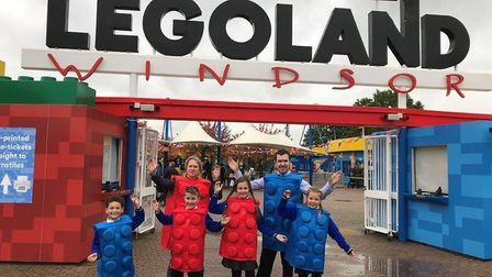 Children from the Howard Junior School in King's Lynn were given a VIP tour of Legoland. Photo: Greg