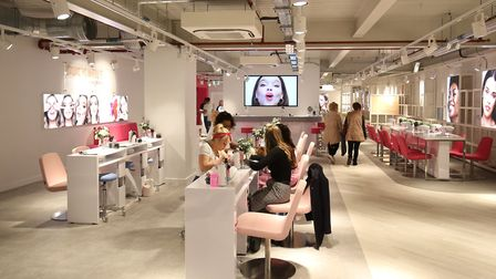 The Beauty Studio during the opening of the world's biggest Primark store in Birmingham. Pic: Aaron