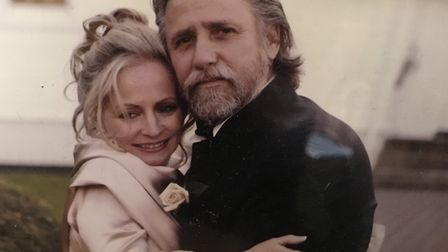 Lady Denise Butler and husband Caisey Harlingten. Pic: submitted