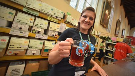 Vicky Moore at the Cider bar, Norwich Beer Festival 2019. Picture: Jamie Honeywood