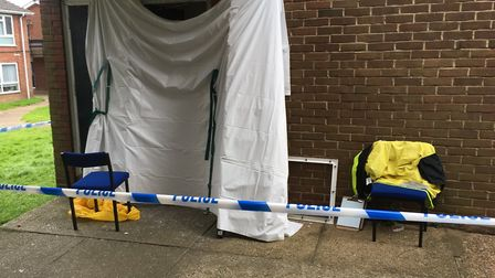 Scene at Godric Place. PIC: Peter Walsh.