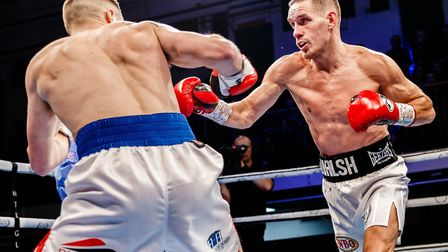 Liam Walsh on his way to a unanimous victory over Maxi Hughes at York Hall Picture: Mark Hewlett