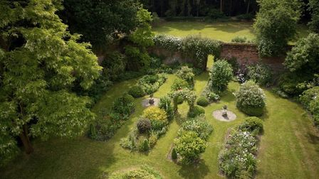 A drone aerial picture of the gardens at Thurning Hall. Pic: Kieron Tovell