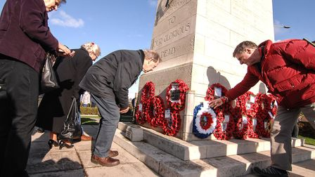 Remembrance Sunday in Hunstanton. Picture: Chris Bishop