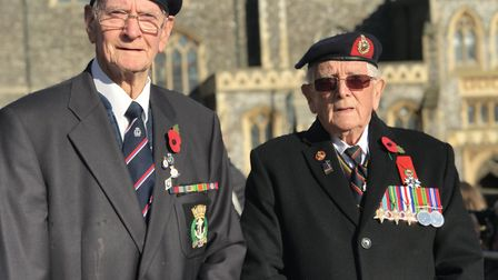 Angus Gray, 94 from Norwich who served in the Royal Navy and Fred Fitch, 94 from Norwich, a Normandy