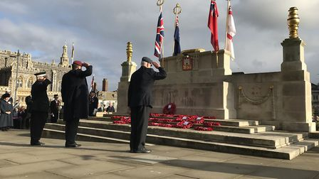 We will remember them. Laying wreaths at this years Remembrance Day commemorations in Norwich. Pictu