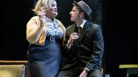 A Taste of Honey, at Norwich Theatre Royal from November 12-16, 2019.Jodie Prenger (Helen) and Tom V