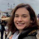 Lily James, in Cromer for the filming of the Netflix drama The Dig. Picture: Stuart Anderson