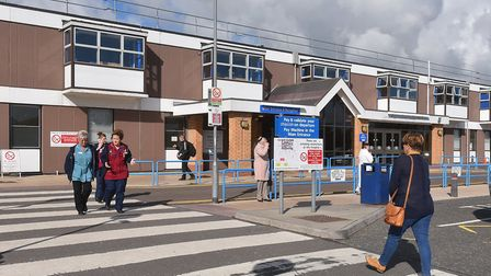 Gorleston's James Paget University Hospital has been surveying concrete planks at risk of decay. Pic