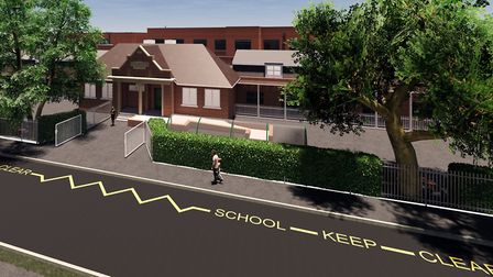 Artist's impression of the new special educational needs school on the former Alderman Swindell scho