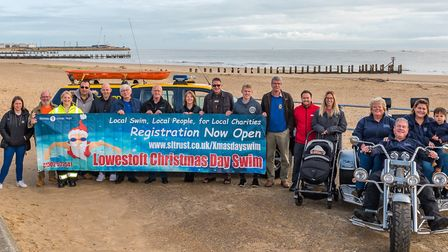 Christmas Day Swim swimmer applications are now open. Picture: Peter Eyles