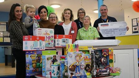 Mrs Daisley's family and friends donated £2,500 for the hospitals to spend on toys for their childre