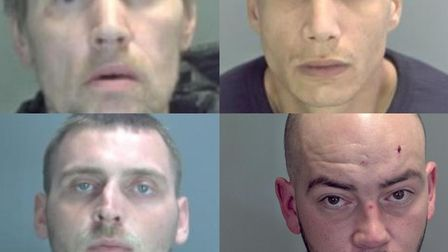 (Top row left to right) Ben Matthews and Matthew Oarton. (Bottom row left to right) Kane Smith and T