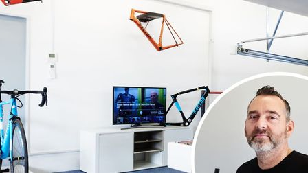 Inside the new Factor bikes showroom. Inset: Director John Bailey. Picture: Mark Ashby/ashbyshoots.c