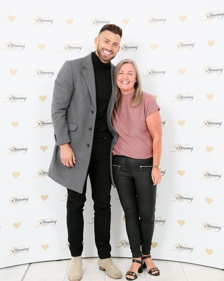 Dawn Eastman with Dancing On Ice winner Jake Quickenden. Photo: Courtesy of Slimming World