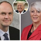 A councillor who stormed out of a meeting has likened an opponent to Donald Trump. Photos: Archant/A