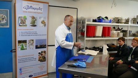 The event was organised by the College of West Anglia in conjunction with the Seafood School at Bill