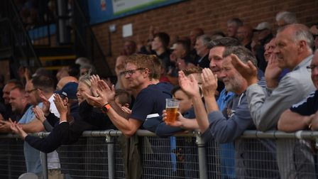 The crowd watches on as King's Lynn take on Hereford. Picture: DENISE BRADLEY